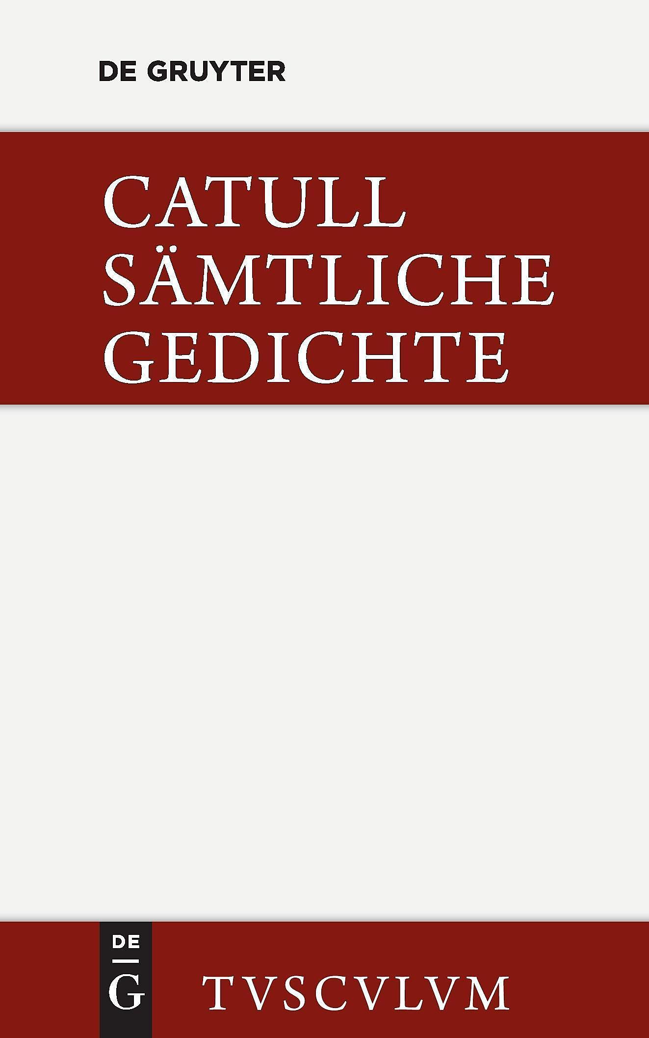 Sämtliche Gedichte Buch Von Catull Versandkostenfrei Bei