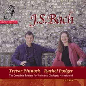 Sämtliche Sonaten Für Violine Cembalo, Podger, Pinnock