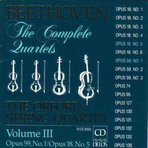 Sämtliche Streichquartette Vol.3, Orford String Quartet