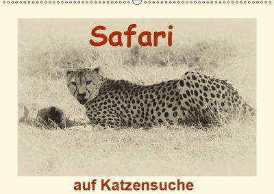 Safari - auf Katzensuche (Wandkalender 2019 DIN A2 quer), Susan Michel /CH