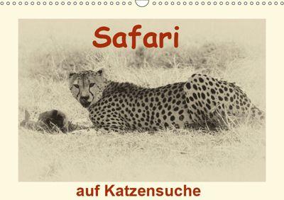 Safari - auf Katzensuche (Wandkalender 2019 DIN A3 quer), Susan Michel /CH