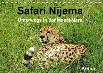 Safari Nijema - Unterwegs in der Masai Mara (Tischkalender 2019 DIN A5 quer), Susan Michel /CH