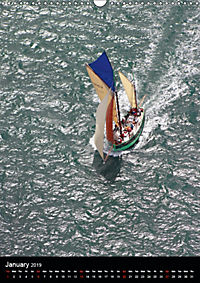 Sailboats seen from the air (Wall Calendar 2019 DIN A3 Portrait) - Produktdetailbild 1