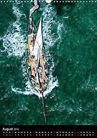 Sailboats seen from the air (Wall Calendar 2019 DIN A3 Portrait) - Produktdetailbild 8