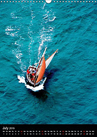 Sailboats seen from the air (Wall Calendar 2019 DIN A3 Portrait) - Produktdetailbild 7