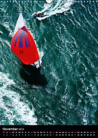 Sailboats seen from the air (Wall Calendar 2019 DIN A3 Portrait) - Produktdetailbild 11