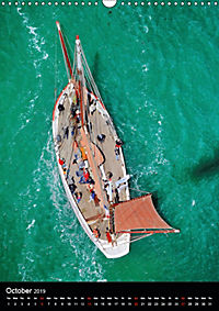 Sailboats seen from the air (Wall Calendar 2019 DIN A3 Portrait) - Produktdetailbild 10