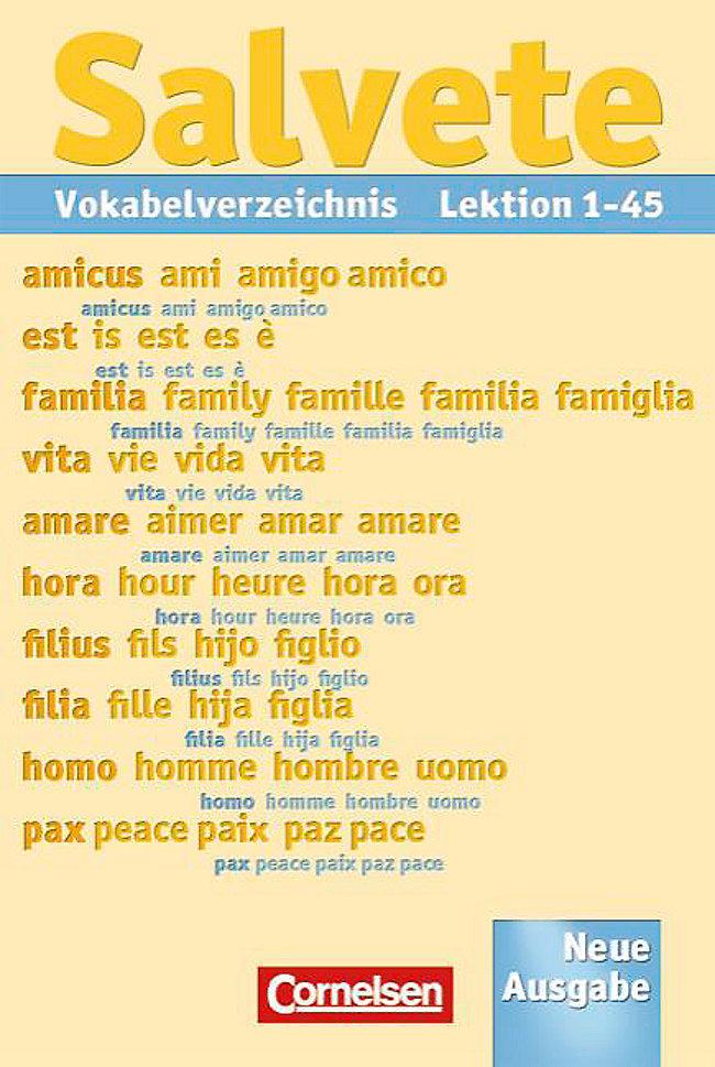 Salvete Neuausgabe Bd12 Vokabelverzeichnis Buch Weltbildat