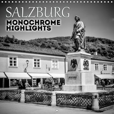 SALZBURG Monochrome Highlights (Wall Calendar 2019 300 × 300 mm Square), Melanie Viola