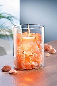 Salzkristall-Kerzenglas - Produktdetailbild 1