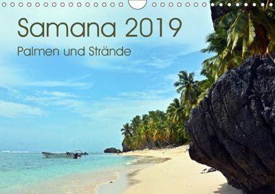 Samana - Palmen und Strände (Wandkalender 2019 DIN A4 quer), Bettina Schnittert