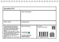 Samojeden - Liebenswerte Fellkugeln (Tischkalender 2019 DIN A5 quer) - Produktdetailbild 3
