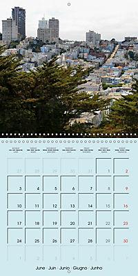 San Francisco Golden Gate City (Wall Calendar 2019 300 × 300 mm Square) - Produktdetailbild 6