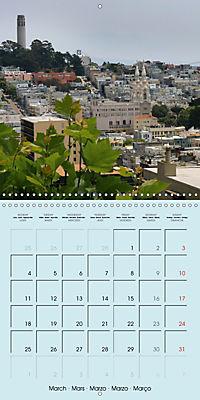 San Francisco Golden Gate City (Wall Calendar 2019 300 × 300 mm Square) - Produktdetailbild 3
