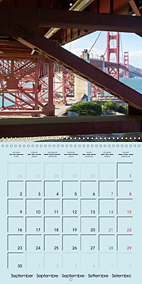 San Francisco Golden Gate City (Wall Calendar 2019 300 × 300 mm Square) - Produktdetailbild 9