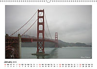 San Francisco Metropolis at the Golden Gate / UK-Version (Wall Calendar 2019 DIN A3 Landscape) - Produktdetailbild 1