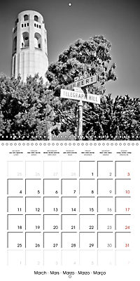 SAN FRANCISCO Monochrome Highlights (Wall Calendar 2019 300 × 300 mm Square) - Produktdetailbild 3