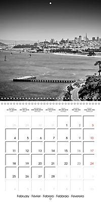 SAN FRANCISCO Monochrome Highlights (Wall Calendar 2019 300 × 300 mm Square) - Produktdetailbild 2