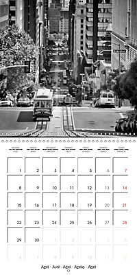 SAN FRANCISCO Monochrome Highlights (Wall Calendar 2019 300 × 300 mm Square) - Produktdetailbild 4
