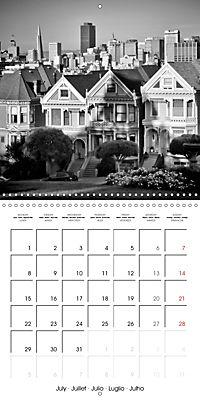SAN FRANCISCO Monochrome Highlights (Wall Calendar 2019 300 × 300 mm Square) - Produktdetailbild 7