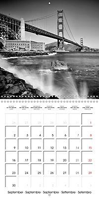 SAN FRANCISCO Monochrome Highlights (Wall Calendar 2019 300 × 300 mm Square) - Produktdetailbild 9