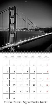 SAN FRANCISCO Monochrome Highlights (Wall Calendar 2019 300 × 300 mm Square) - Produktdetailbild 12