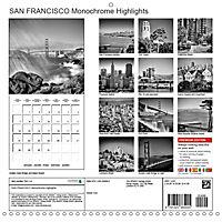 SAN FRANCISCO Monochrome Highlights (Wall Calendar 2019 300 × 300 mm Square) - Produktdetailbild 13