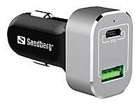 SANDBERG Car Charger USB-C PD+QC3.0 63W - Produktdetailbild 1