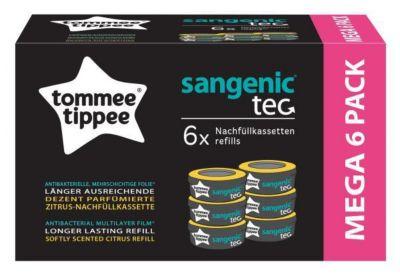 Sangenic TEC 6er Pack Zitrus Nachfüllkassetten für Windeleimer