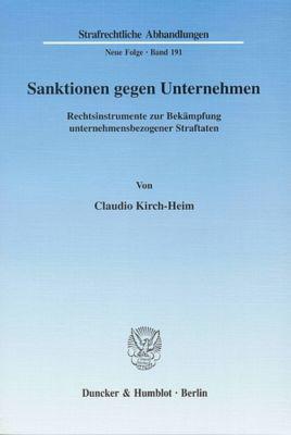 Sanktionen gegen Unternehmen, Claudio Kirch-Heim