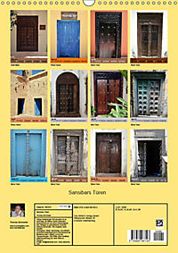 Sansibars Türenkunst (Wandkalender 2019 DIN A3 hoch) - Produktdetailbild 13