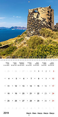 SANTORINI Caldera Views (Wall Calendar 2019 300 × 300 mm Square) - Produktdetailbild 3