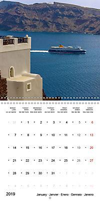 SANTORINI Caldera Views (Wall Calendar 2019 300 × 300 mm Square) - Produktdetailbild 1