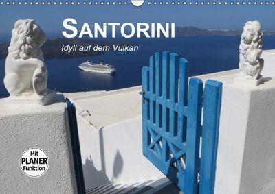 SANTORINI - Idyll auf dem Vulkan (Wandkalender 2019 DIN A3 quer), Renate Bleicher