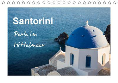 Santorini - Perle im Mittelmeer (Tischkalender 2019 DIN A5 quer), Sabine Reuke