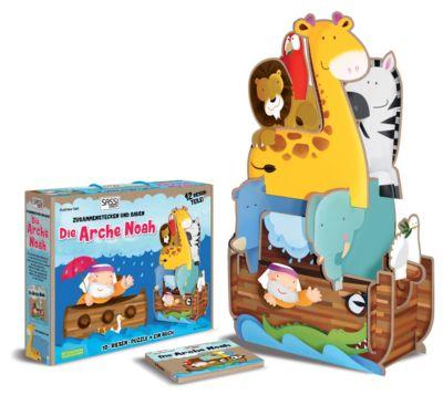 Sassi - Die Arche Noah - 3D-Riesenpuzzle und Buch