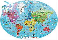Sassi - Die Erde - Ovales Puzzle 205tlg. und Buch - Produktdetailbild 1