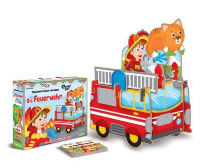 Sassi - Die Feuerwehr - 3D-Riesenpuzzle und Buch