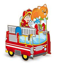 Sassi - Die Feuerwehr - 3D-Riesenpuzzle und Buch - Produktdetailbild 1
