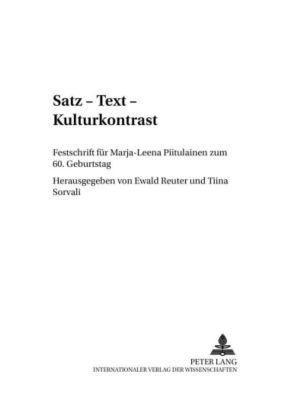 Satz - Text - Kulturkontrast