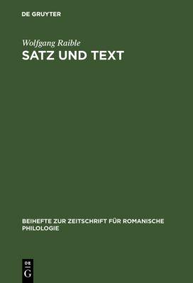 Satz und Text, Wolfgang Raible