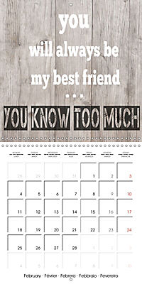 Say it with a smile (Wall Calendar 2019 300 × 300 mm Square) - Produktdetailbild 2