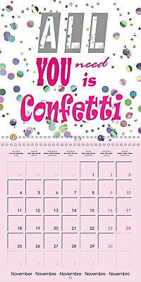 Say it with a smile (Wall Calendar 2019 300 × 300 mm Square) - Produktdetailbild 11
