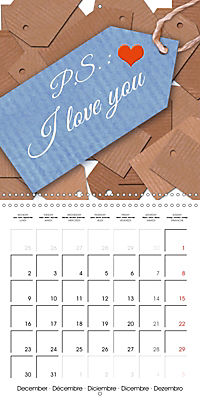 Say it with a smile (Wall Calendar 2019 300 × 300 mm Square) - Produktdetailbild 12