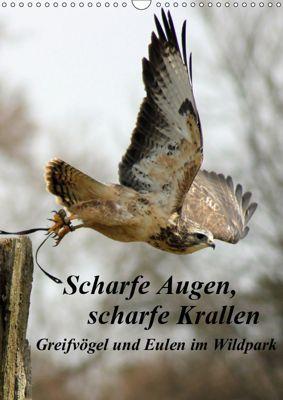 Scharfe Krallen, scharfe Augen, Greifvögel und Eulen im Wildpark (Wandkalender 2019 DIN A3 hoch), Marion Bönner