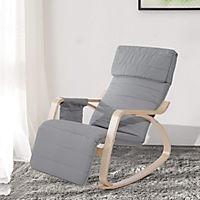 Schaukelstuhl (Farbe: grau) - Produktdetailbild 1