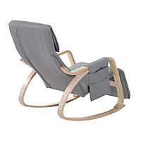 Schaukelstuhl (Farbe: grau) - Produktdetailbild 4