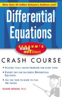 Schaum's Easy Outline of Differential Equations, Richard Bronson
