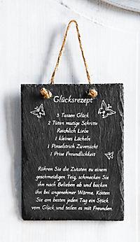 """Schieferplatte """"Glücksrezept"""" - Produktdetailbild 1"""
