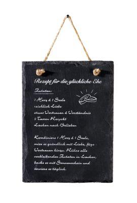schieferplatte mit ehe rezept jetzt bei bestellen. Black Bedroom Furniture Sets. Home Design Ideas